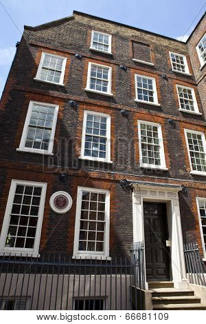 Dr Samuel Johnson's House In London
