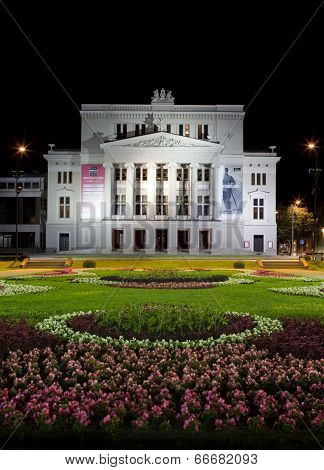 Latvian National Opera House In Riga