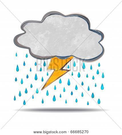 Climate. Cloud, Thunder And Rain
