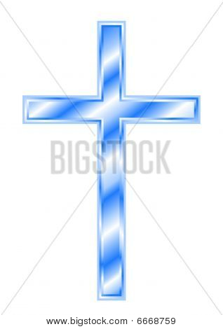 Blue Christian Cross