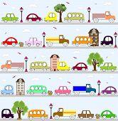 baby vehicle pattern design. vector illustration art poster
