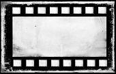 Bank old grunge film strip frame background poster