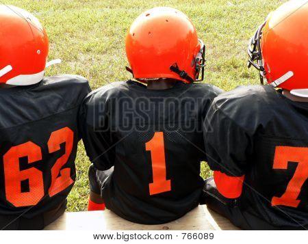 football - little league players