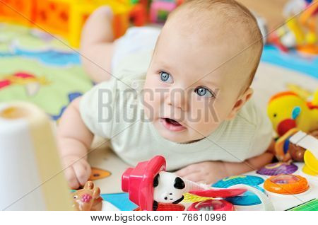 Baby On The Playmat