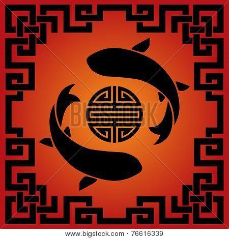 Asian carp red and black design