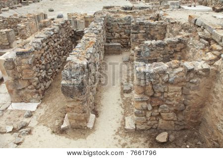 Excavaciones en Festos en Creta