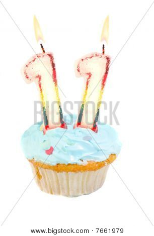 Eleventh Birthday Cupcake