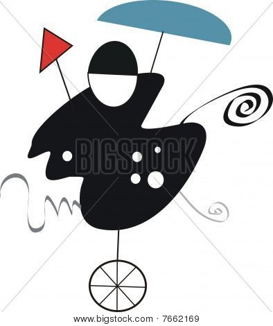 Abstract cyclist illustration
