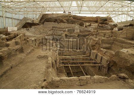 Catalhcatalhoyuk Konya (turkey). Built In 7500 B.c.