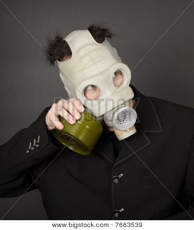 Portrait Of A Funny Guy In Mask
