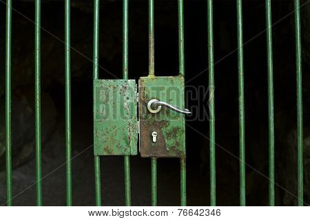 Locked Cage Door