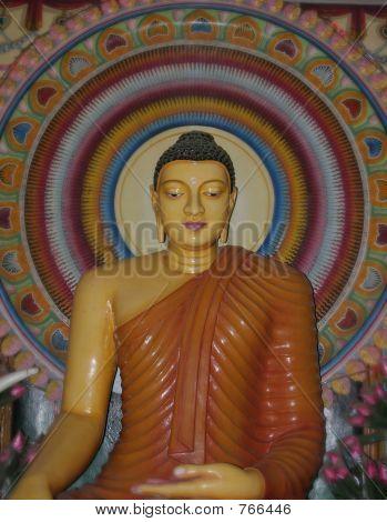Buddha statue at the Katharagama temple - Sri Lanka poster