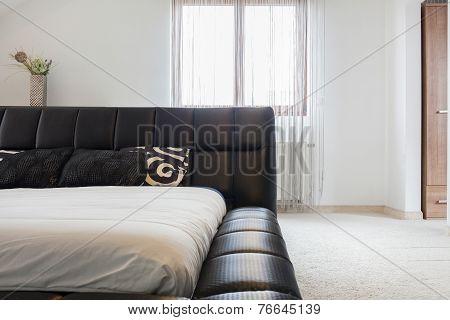 Double Bed With Elegant Headrest