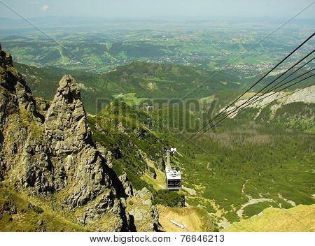 Tatra mountains in Poland, near city Zakopane, funicular