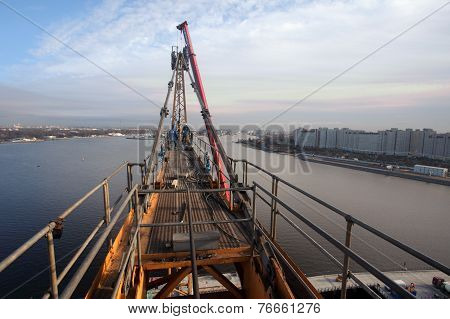 Assembling Tower Crane, High-altitude Installation Works