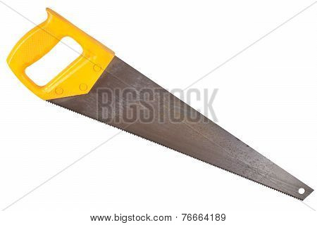 Crosscut Hand Saw Isolated On White