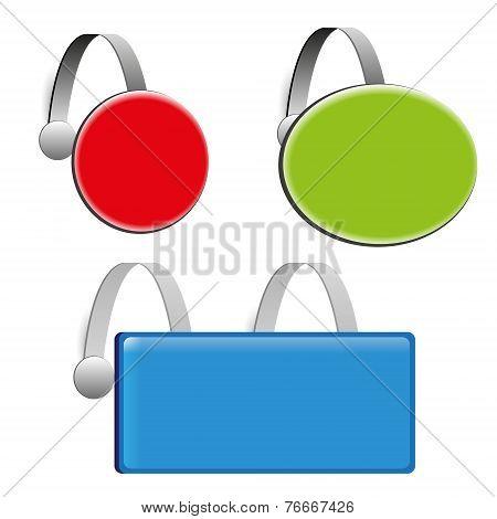 set three color empty wobbler