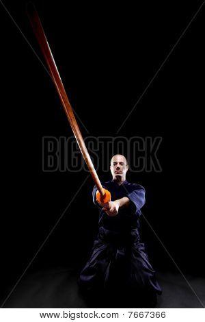 Kendo Fighter With Bokken