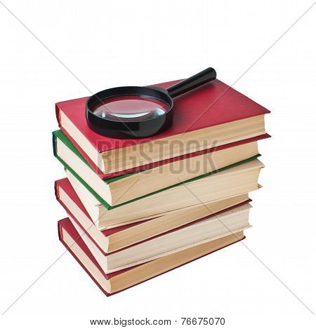 Stack  and Magnifying Glass