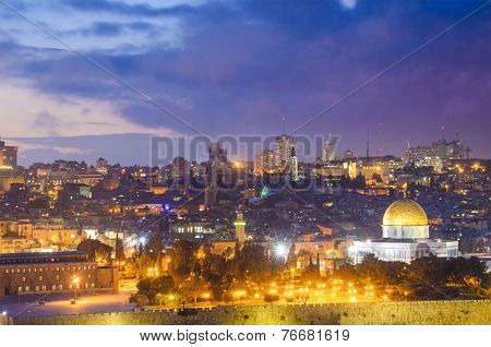 Jerusalem, Israel old city skyline.