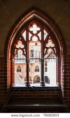 Carved Window Opening In A Medieval Castle