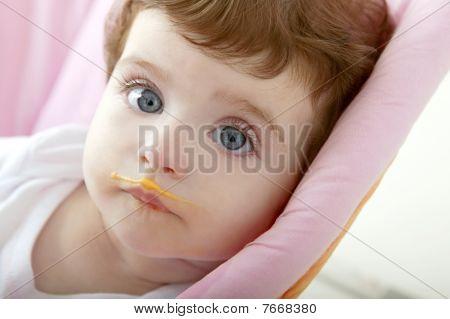 Baby Deity Mouth Of Eating Porridge