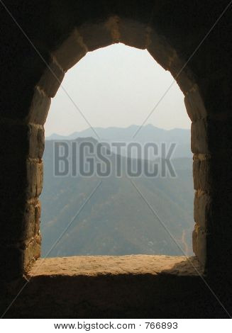 View from Turret Window at Great Wall of China