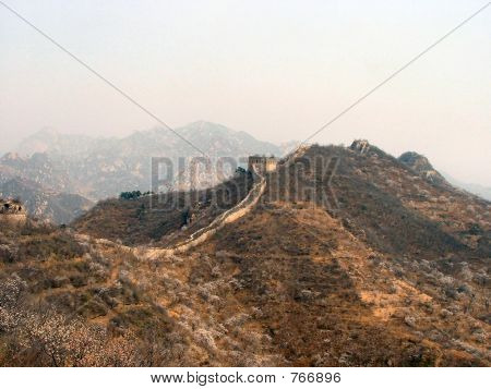 An Untouched Crumbling Stretch of the Great Wall of China