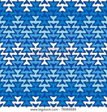 Blue Zigzag