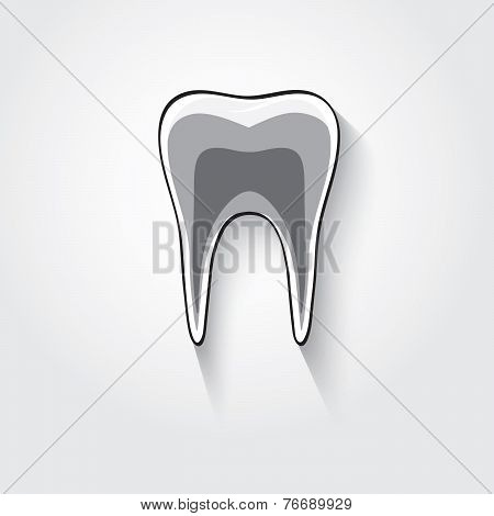 Tooth stylized