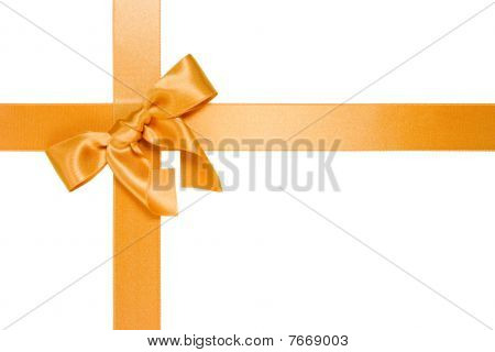 Golden Cross Ribbon With Bow