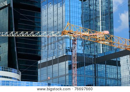 Construction Site In Business District