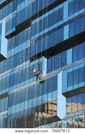 New Business Building And Window Cleaners