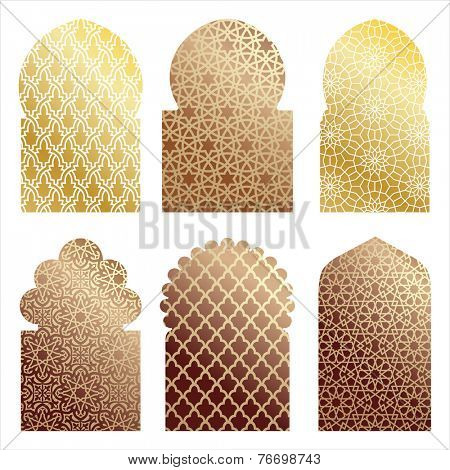 vector islamic window shapes