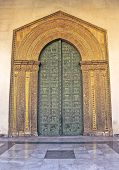 Monreale cathedral west main doors made by Bonanno Pisano in 1192 poster