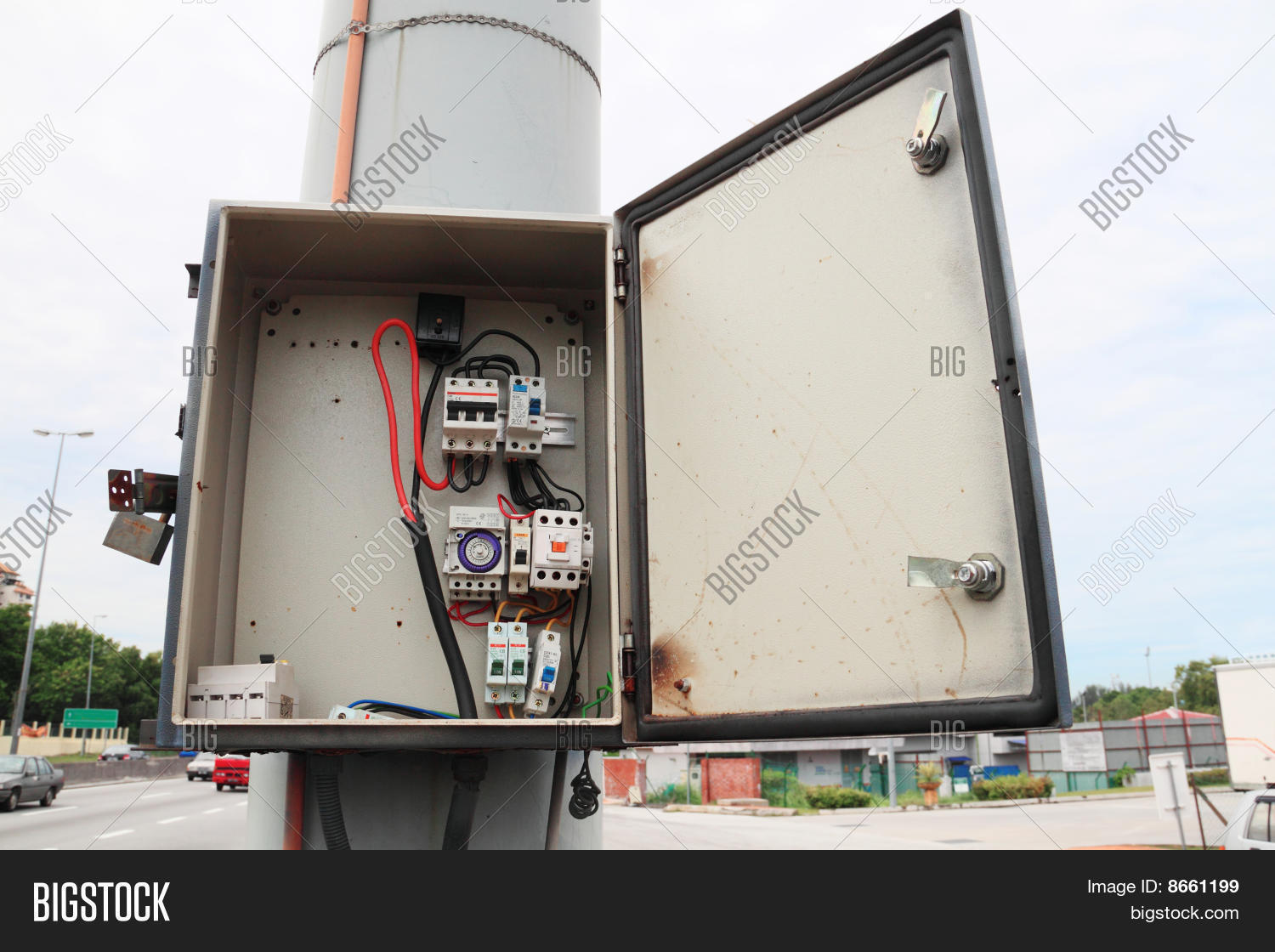safety fuse box break image & photo (free trial) bigstock cartridge fuse block safety fuse box break open
