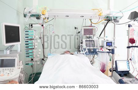 Patient Ward Of Intensive Care Unit