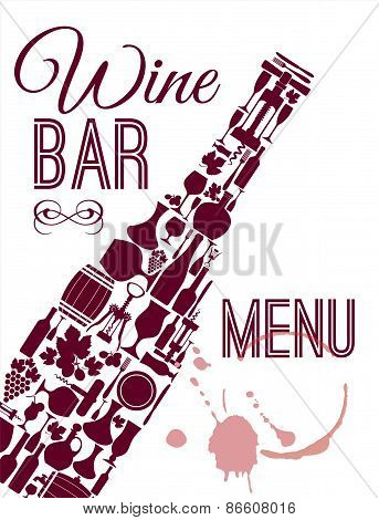 Wine menu card.