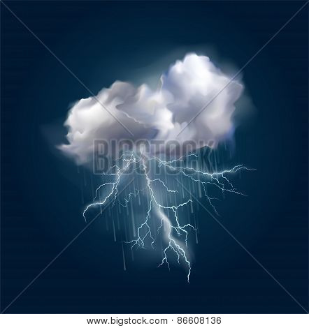 Vector cloud and lightnings