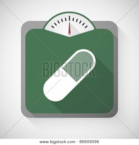 Weight Scale With A Pill