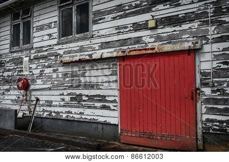 Red Door,old Fire Station In Wellington