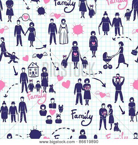 Family Seamless Pattern
