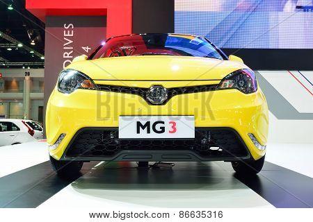 Bangkok - March 26 : Mg 3 Hatchback Car With 1500 Cc Vti Engine On Display At 36Th Bangkok Internati