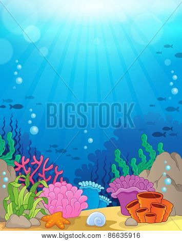 Ocean underwater theme background 3 - eps10 vector illustration.