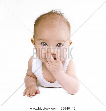 Cute Surprised Baby