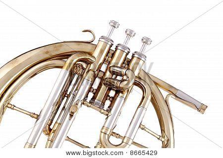 Peckhorn French Horn Isolated On White