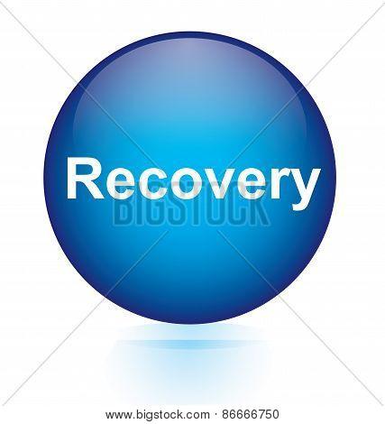 Recovery blue circular button
