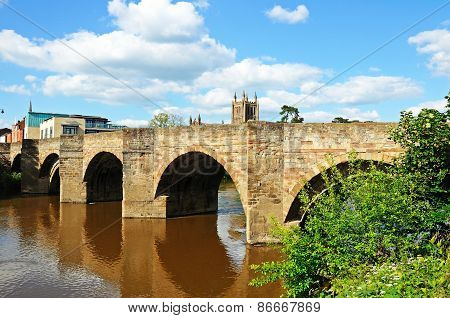 River Wye and Bridge, Hereford.
