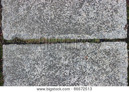 Cleft Between Granite Slabs