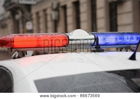 lightbar of a police car